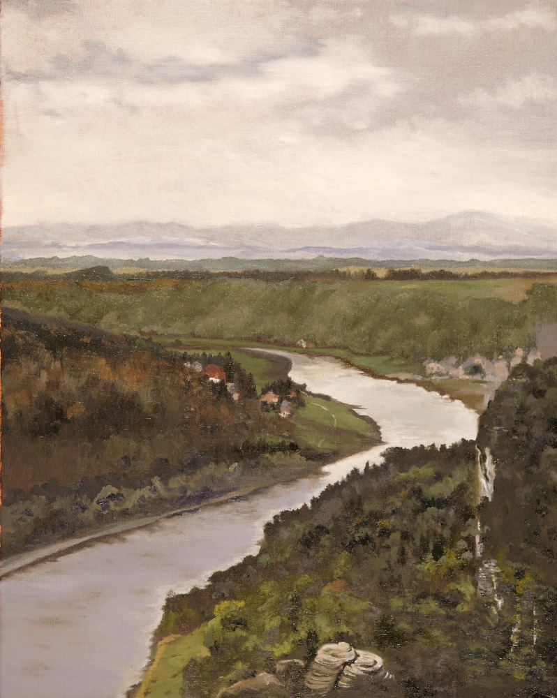 Elbe River Bend from the Bastei